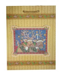 Пакет бумажный новогодний «Два оленя»