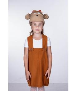 Обезьянка девочка (шапочка+сарафан)