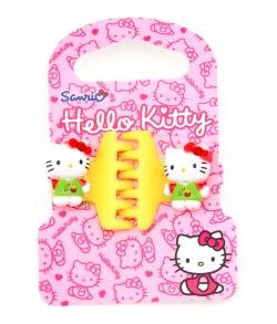 HELLO KITTY Заколка Крабик желтая, 2 штуки в упаковке