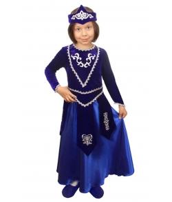 Армянский костюм для девочки (цвет синий)