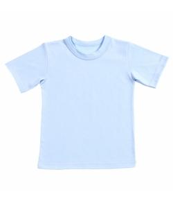 Детская футболка голубая