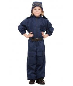 Детский костюм военного летчика 8-10 лет