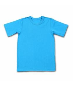 Детская бирюзовая однотонная футболка