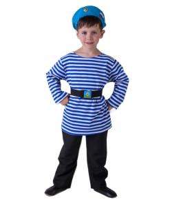 Детский костюм десантника (тельняшка,берет,пояс)