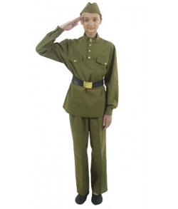 Костюм военный для мальчика с прямыми брюками