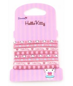 HELLO KITTY Набор розовых резинок для волос 8 штук в упаковке