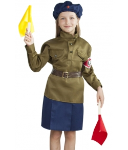 Детский костюм военной регулировщицы 3-5 лет