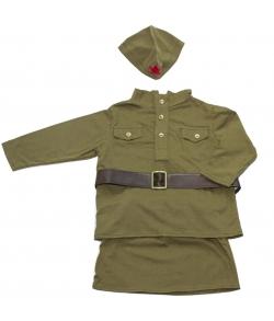 Детский военный костюм для девочки 9-12 месяцев
