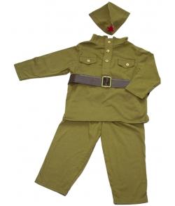 Детский костюм ВОВ солдат 9-12 месяцев