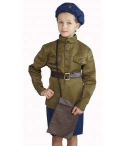Детский костюм военной летчицы 8-10 лет