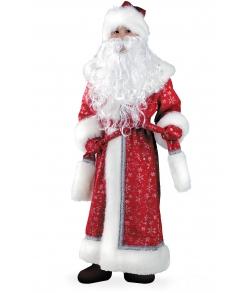 Костюм Деда Мороза из плюша детский