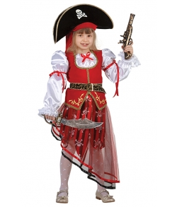 Детский костюм пирата для девочки (текстиль) р.38 8022