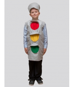 Детский карнавальный костюм светофор (разноцветный)