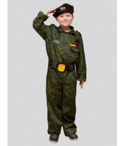 Детский костюм спецназовца (берет,комбинезон,пояс)