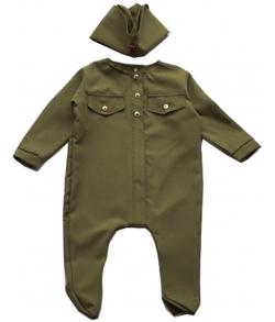 Детский костюм ВОВ солдат малышок 6-9 месяцев