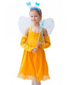 Сказочная фея в желтом (крылья, палочка в комплекте)