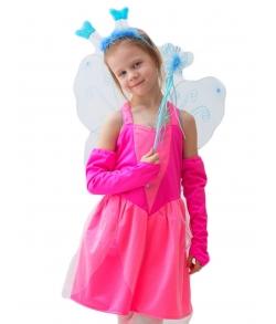 Сказочная фея в розовом (крылья, палочка в комплекте)