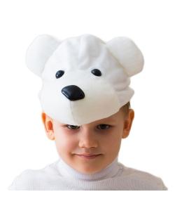 Шапка-Белый мишка